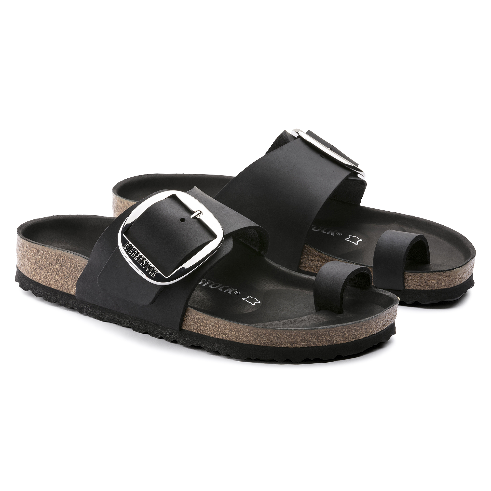 Miramar Big Buckle Oiled Leather Black