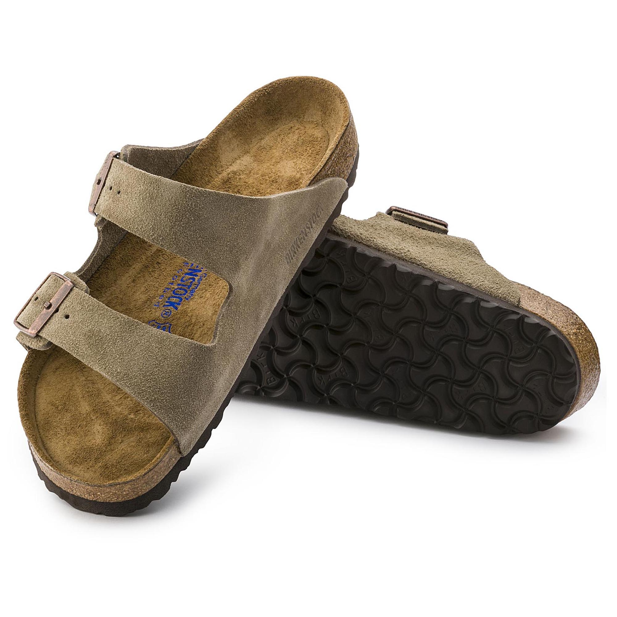 8a041ac004b ... Arizona Suede Leather Taupe ...