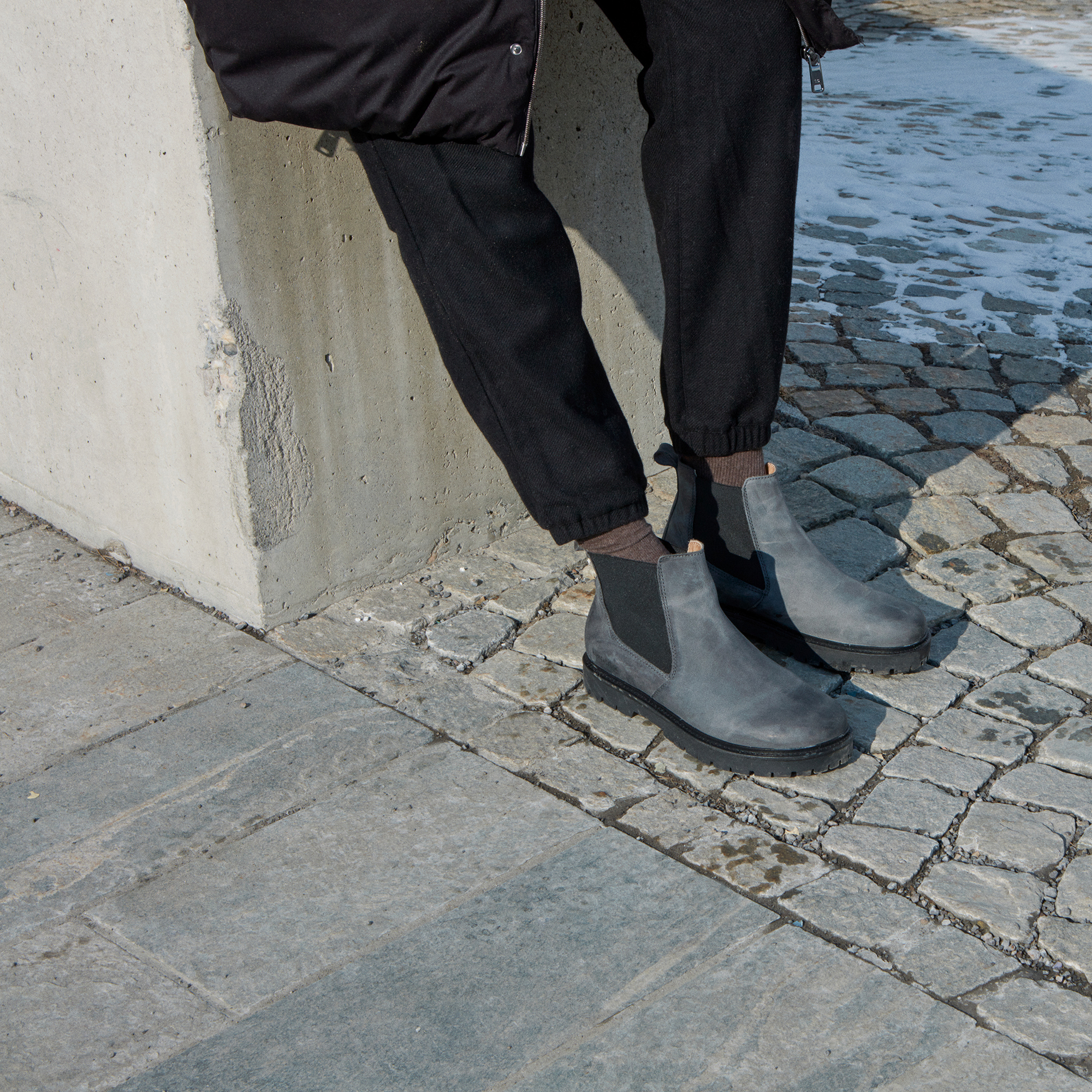 a9f229f6d35 ... Stalon Nubuck Leather Graphite ...