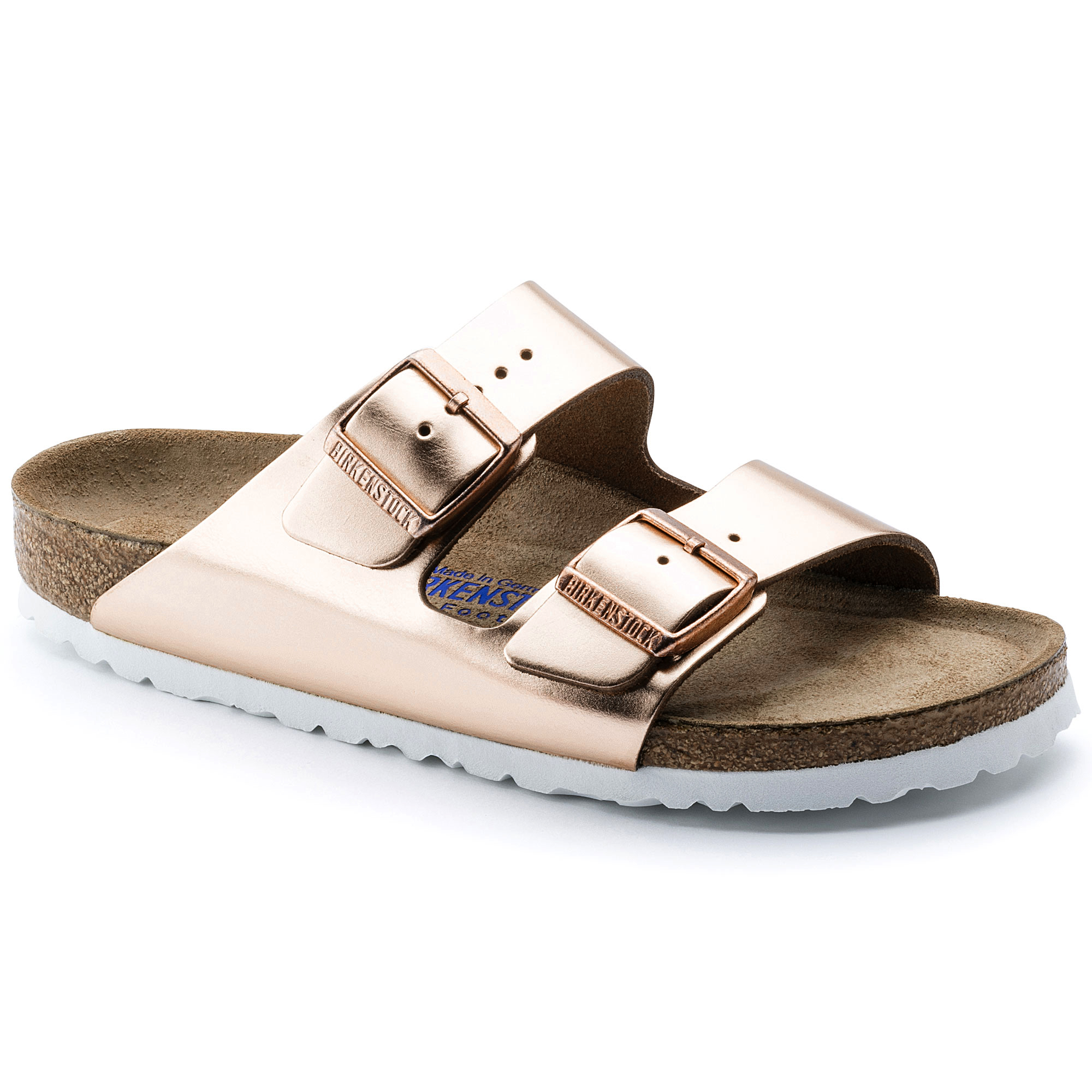 Birkenstock Women's Arizona Soft Footbed Sandal Metallic