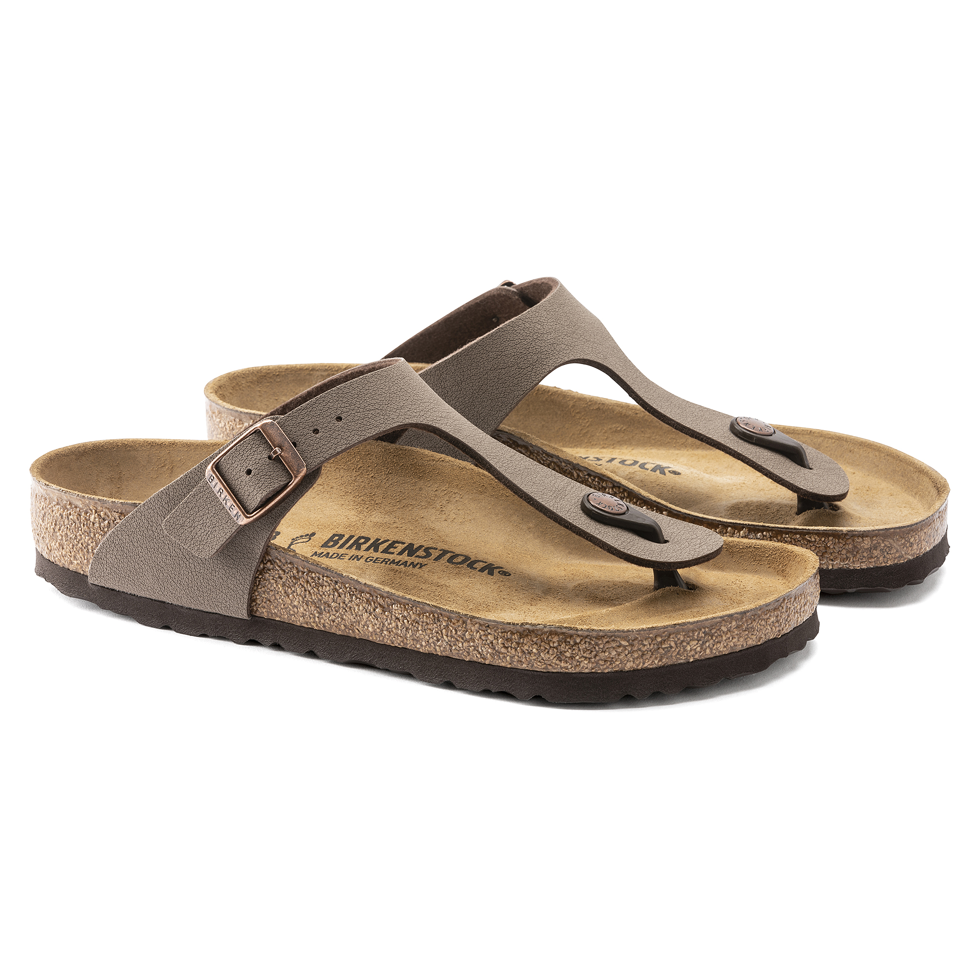 Birkenstock Gizeh Mocca Womens Leather Sandals-4 NEQUqzihB