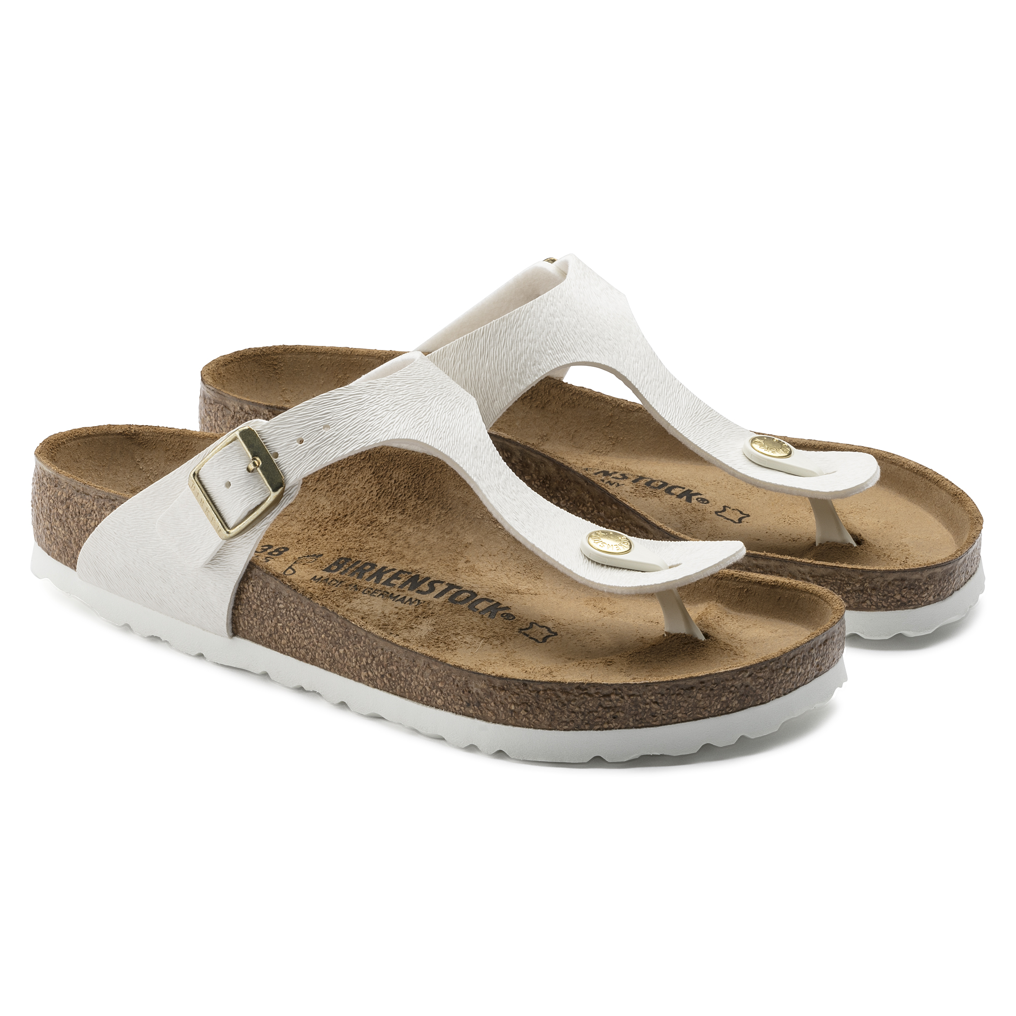 BIRKENSTOCK Damen Zehentrenner Gizeh Animal Fascination Offwhite 41