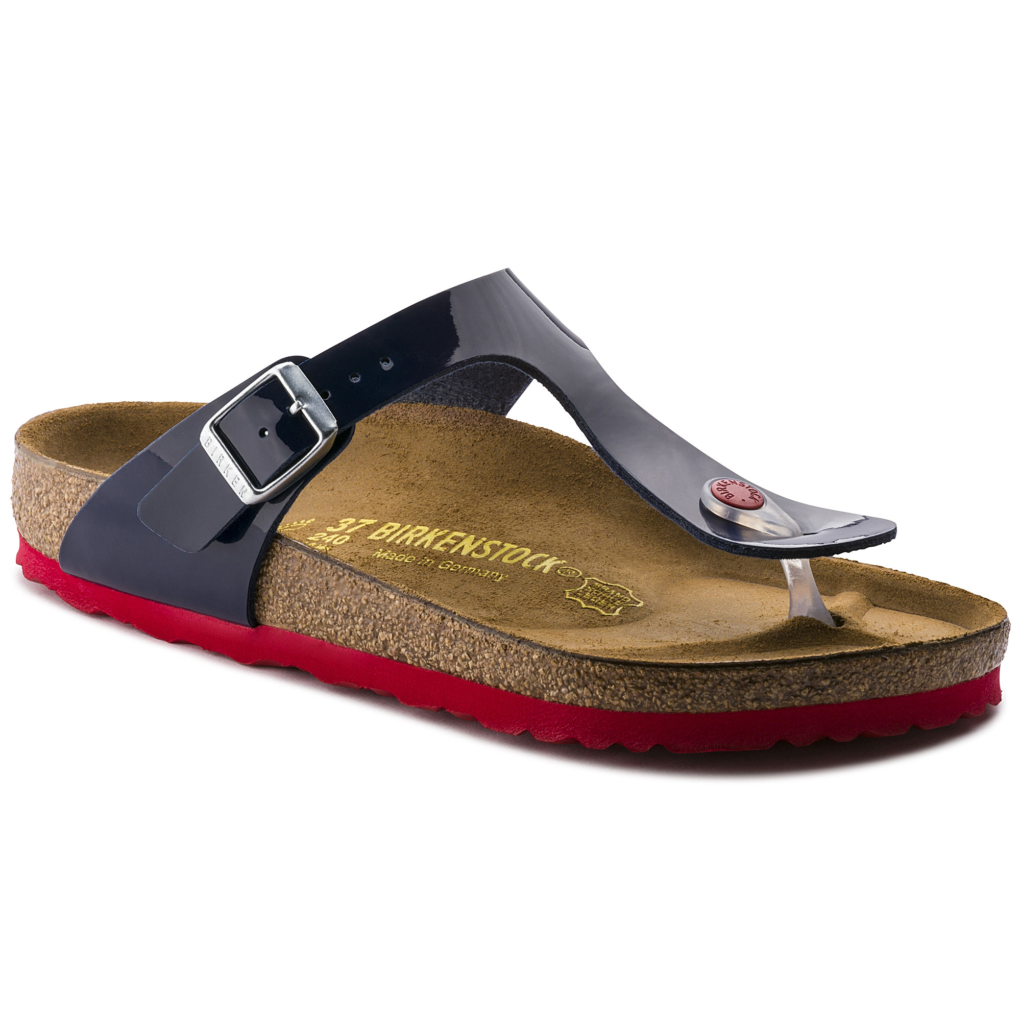 NEW Birkenstock Cairo Red Patent Thong Sandals Womens 9 EUR