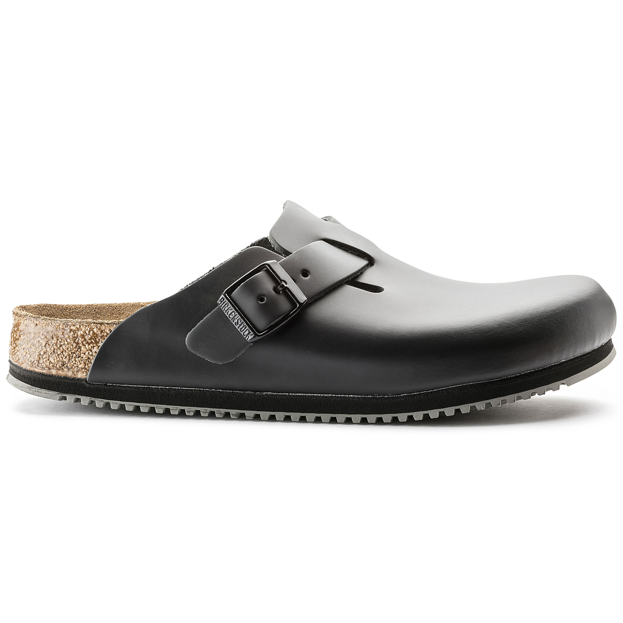 Birkenstock Boston Black Natural Leather