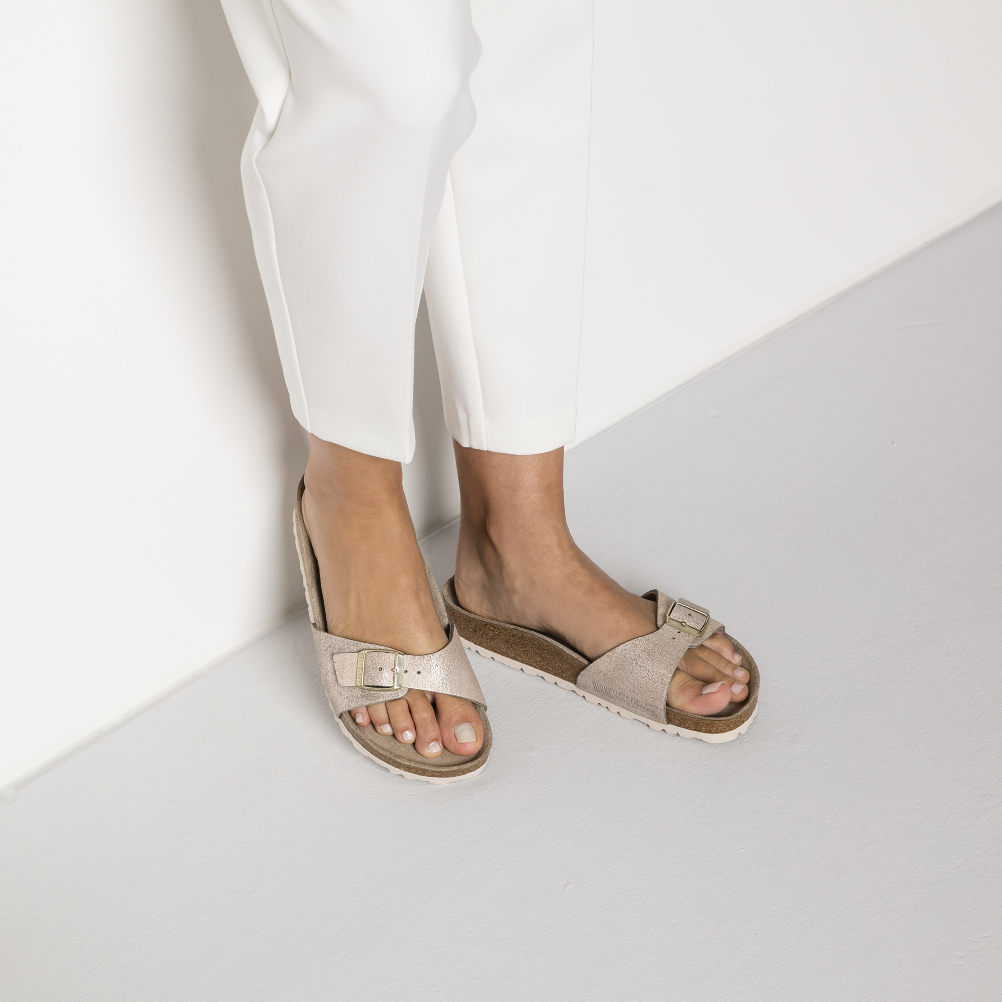 Birkenstock Damen Madrid rosé Gold metallic