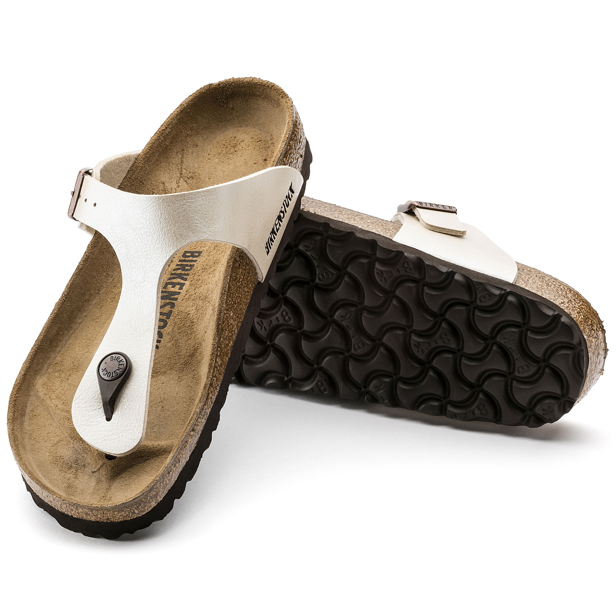 Antique Lace Birkenstock Gizeh Leather Comfortable Shoes