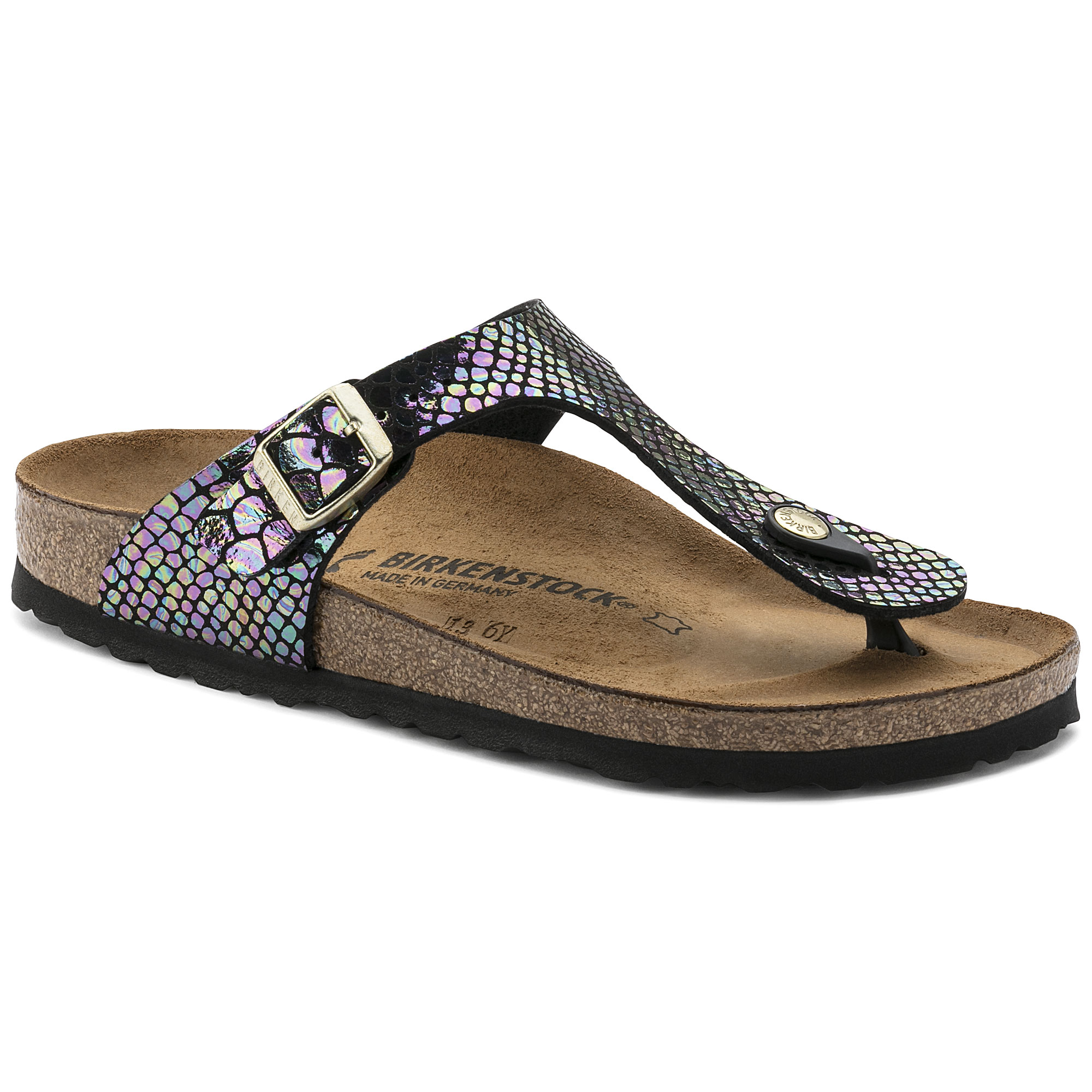 43ca69fdc6be Gizeh Birko-Flor Shiny Snake Black Multicolor