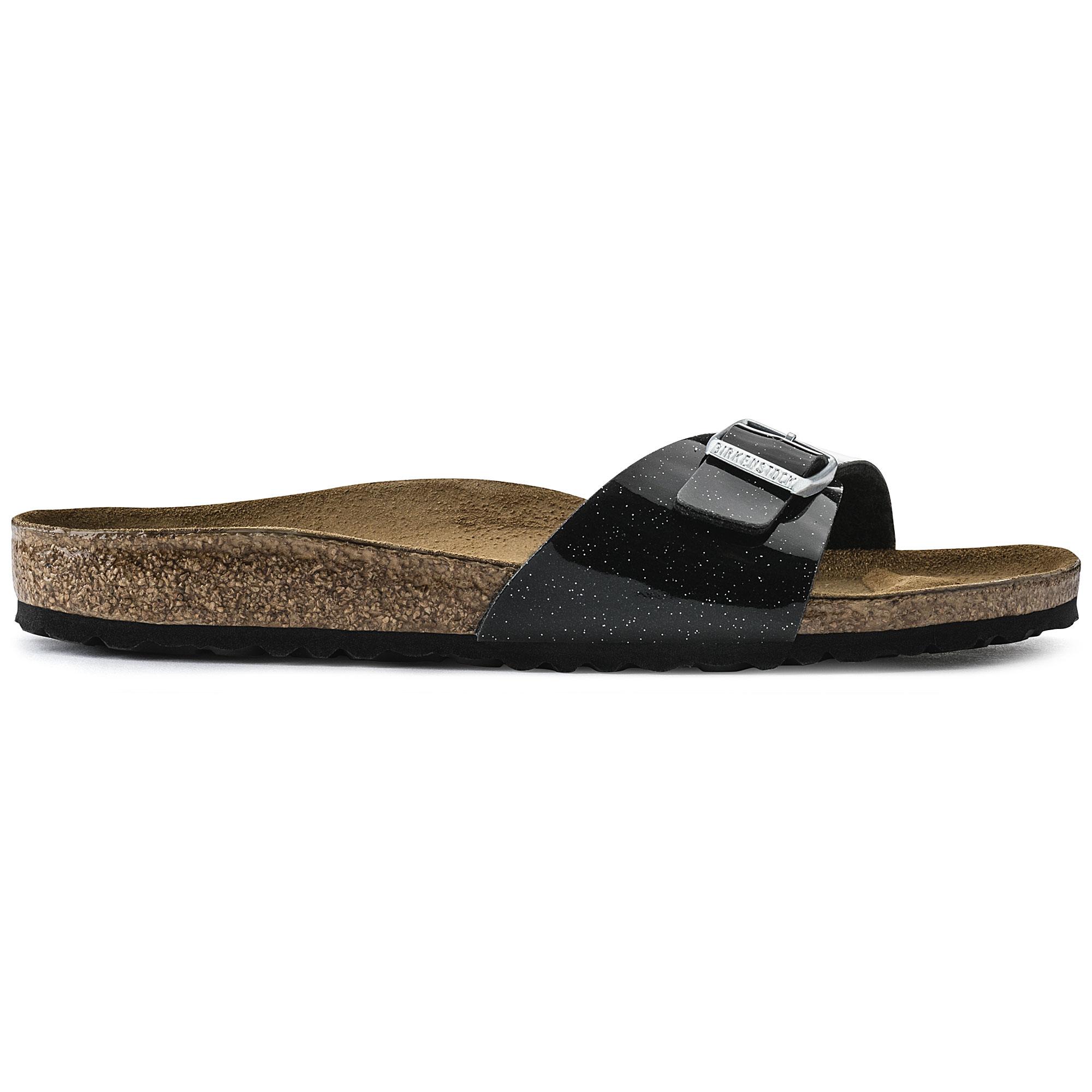 Birkenstock Madrid Birko Flor Magic Galaxy Black Sandals