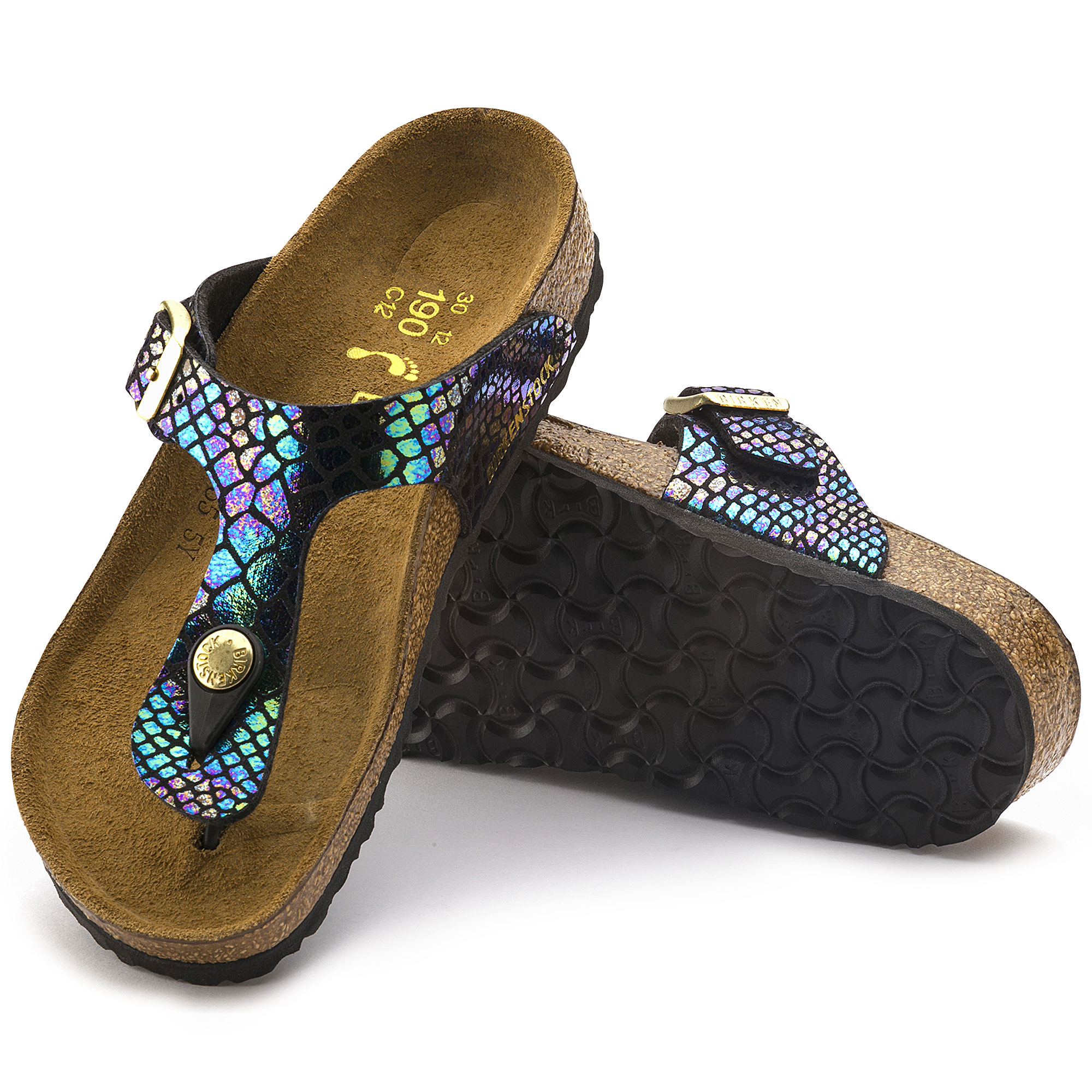 Gizeh Birko Flor Shiny Snake Black Multicolor
