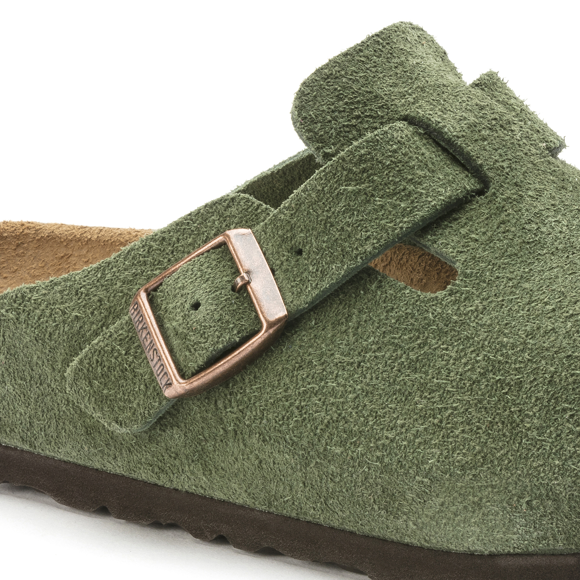 Boston Suede Leather Green   shop