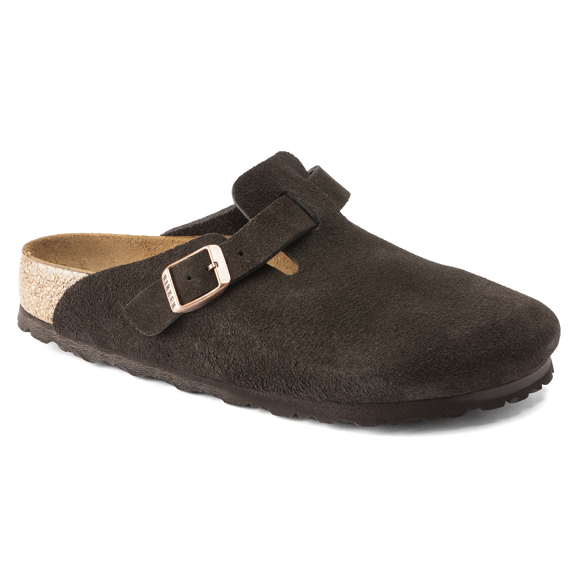 32813f4eba14 Boston Suede Leather Mocha ...