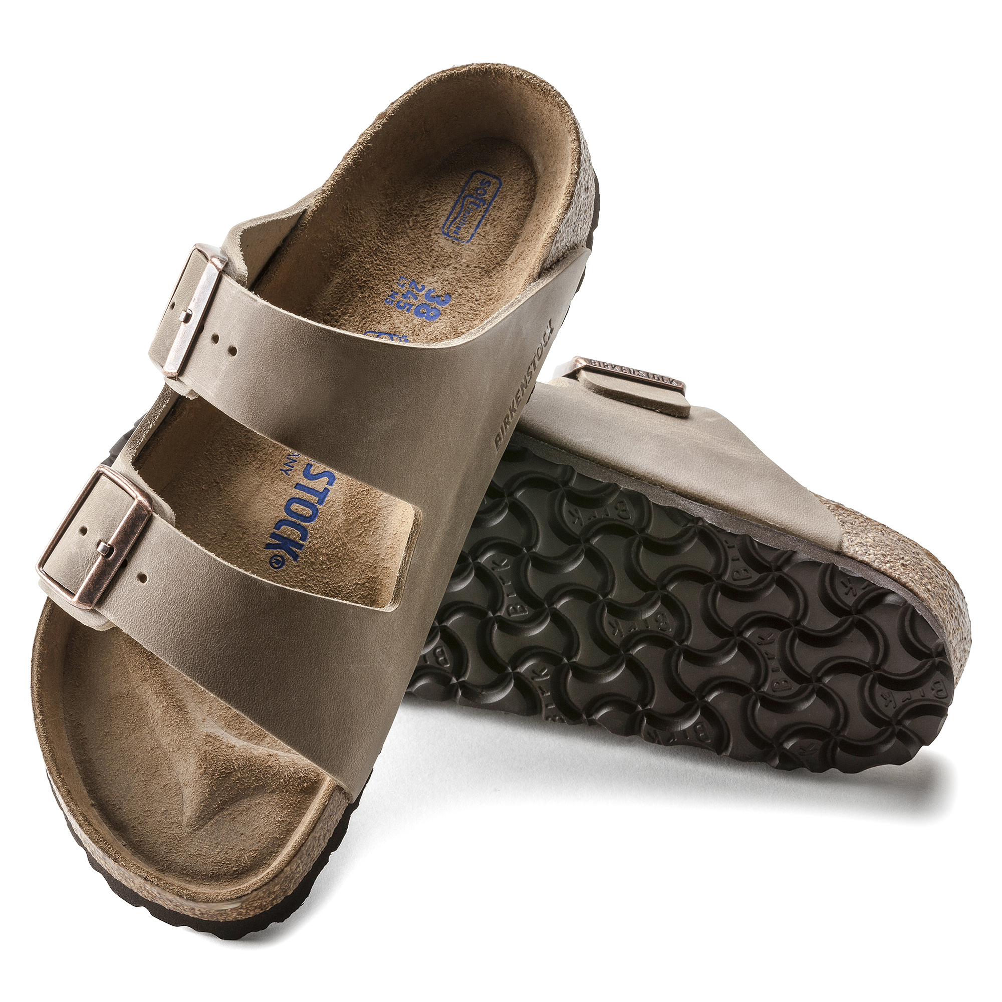 wholesale dealer in stock outlet boutique Arizona Oiled Leather Tobacco Brown | shop online at BIRKENSTOCK